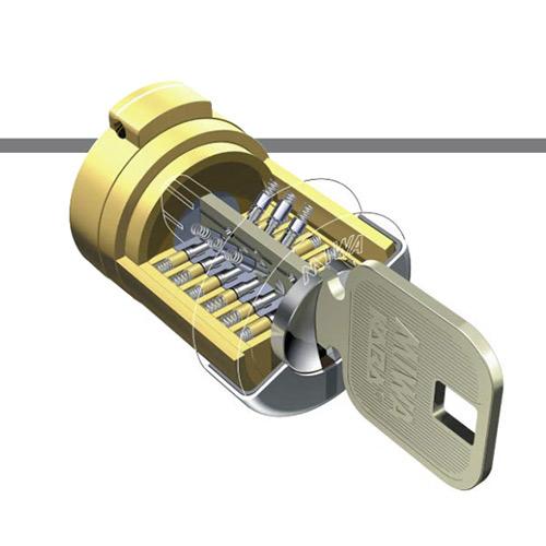 MIWA U9、鍵、シリンダー構造